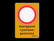 Verkeersbord RVV C01 + 3 txt