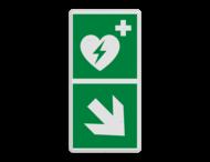Reddingsbord E010 - AED aanwezig + pijl