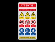 Veiligheidsbord | 9 symbolen + banners