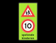 Verkeersbord Spelende kinderen RVV J21 + A1-xx