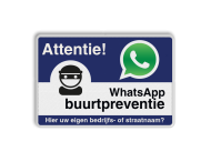 WhatsApp Attentie Buurtpreventie Informatiebord 01 - L209wa-b