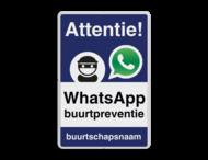 WhatsApp Attentie Buurtpreventie Informatiebord 02 - L209wa-b