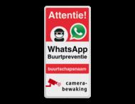 WhatsApp Attentie Buurtpreventie Informatiebord 03 - L209wa-r