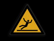 Veiligheidspictogram - Gladde vloer - W011
