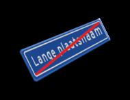 Plaatsnaambord 1840x340 mm RVV H02b (einde)