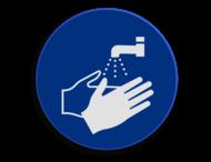 Veiligheidspictogram - Handen wassen verplicht - M011