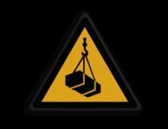 Veiligheidspictogram - Hangende Last - W015