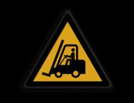 Veiligheidspictogram - Pas Op! Heftrucks - W014