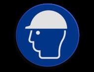 Veiligheidspictogram - Helm dragen verplicht - M014