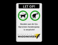 Informatiebord - Honden aan de lijn en opruimplicht + logo
