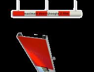 Portaalligger 200mm C profiel rood/wit + tekst