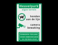 Entreebord eigen terrein - camerabewaking en honden aan de lijn