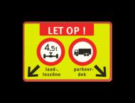 Verkeersbord C20-C07 + txt + pijlen