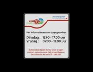 Informatiebord Knooppuntroute 1:1  reflecterend klasse 1 + full-colour opdruk + Datumsticker (verwijderbaar)