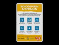 Schoolpleinbord 3:2  full-colour reglementen
