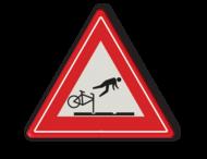 Verkeersbord tramrails - valgevaar fietsers