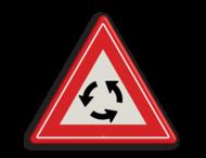 Verkeersbord RVV J09 - Vooraanduiding rotonde