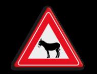 Informatiebord overstekende ezels
