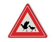 Verkeersbord overstekende watervogels