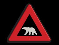 Verkeersbord NOORWEGEN polarbear