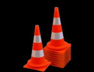 Afzetkegel 500mm - set van 10 stuks - oranje/wit reflecterend
