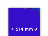 Reflecterende folie kl.1 blauw 914mm breed