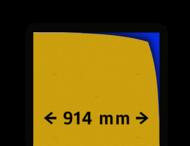 Reflecterende folie kl.1 geel 914mm breed