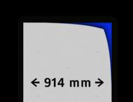 Reflecterende folie kl.1 wit 914mm breed