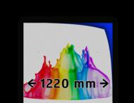 Reflecterende folie kl.1 wit  1220mm breed + full-colour opdruk