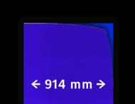 Reflecterende folie kl.3 blauw 914mm breed