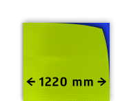Reflecterende folie kl.3  geel/groen FLUOR 1220mm breed