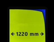Reflecterende folie kl.3  geel/groen FLUOR 1220mm breed