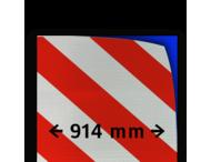 Reflecterende folie kl.3 wit/rood 914mm breed