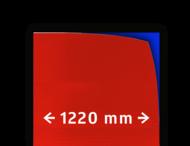 Reflecterende folie T-7508-B klasse 3 rood 1220mm breed
