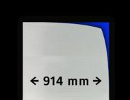 Reflecterende folie kl.3 wit  914mm breed