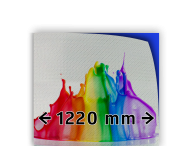 Reflecterende folie kl.3 wit 1220mm breed + full colour opdruk
