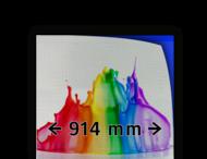 Reflecterende folie kl.3 wit  914mm breed + full-colour opdruk