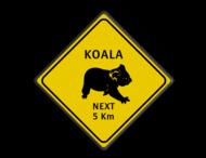 Verkeersbord Australie - KOALAS