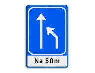 Verkeersbord RVV L05-2-rd-la + ondertekst