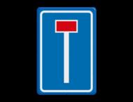 Verkeersbord RVV L08 -  Doodlopende weg