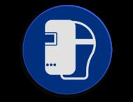 Veiligheidspictogram - Laskap dragen verplicht - M019