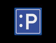 Verkeersbord blauw/wit E04 - LOL