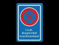 Stopverbod RVV E02 + eigen tekst