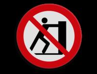 Veiligheidspictogram - Verboden te duwen - P017