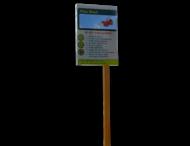Sign2Wood - RVS Informatiepaneel op FSC paal