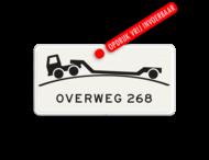 Verkeersbord RVV OB - overweg - Onderbord - Verhoogde overweg