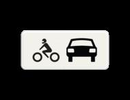 Verkeersbord RVV OB07 - Onderbord - Geldt alleen voor auto's en motoren