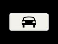 Verkeersbord RVV OB08 - Onderbord - Geldt alleen voor auto's