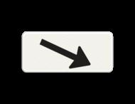 Verkeersbord RVV OB501-schuin - Onderbord - Verwijzing rijbaan of parkeervak