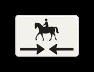 Verkeersbord RVV OB503OB101 - Onderbord - Kruising ruiterpad